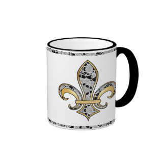 Delicate Lace Fabric Pattern Collection Lace - 07 Coffee Mugs