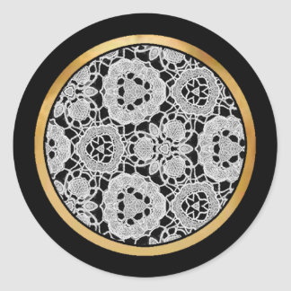 Delicate Lace Fabric Pattern Collection Lace - 07 Stickers