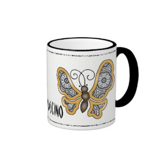 Delicate Lace Fabric Pattern Collection Lace - 08 Coffee Mugs