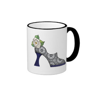 Delicate Lace Fabric Pattern Collection Lace - 08 Mug
