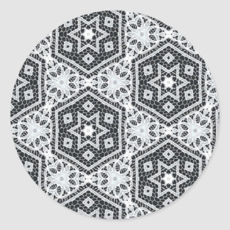 Delicate Lace Fabric Pattern Collection Lace - 09 Sticker