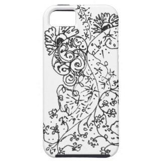 Delicate Line Drawings of Abstract Flower Dance iPhone 5 Cases