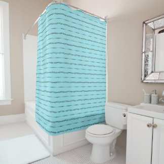 Delicate Luxury Pattern Turquoise Shower Curtain