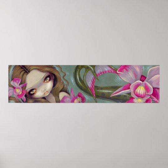 Delicate Orchid Mermaid Art Print