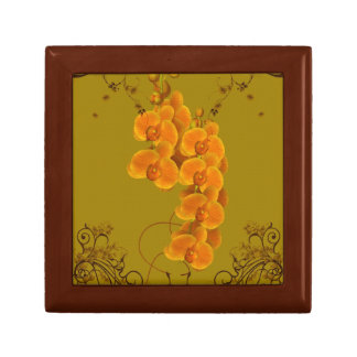 Delicate Orchids Floral Art Jewelry Box
