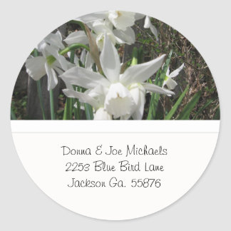 Delicate Paperwhites Address Stickers
