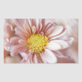 Delicate Peach and Yellow Flower Rectangular Sticker