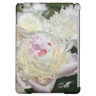 Delicate Peony Watercolor in Pink and White