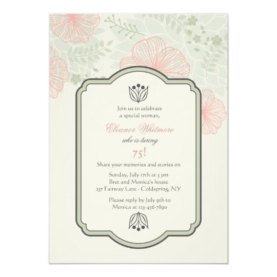 Delicate Petals Invitation