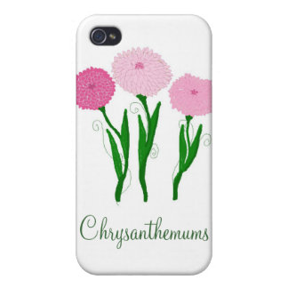 Delicate Pink Chrysanthemums Cover For iPhone 4