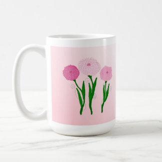 Delicate Pink Chrysanthemums Mug
