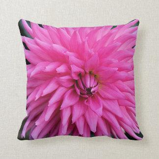 Delicate Pink Dahlia Throw Pillow