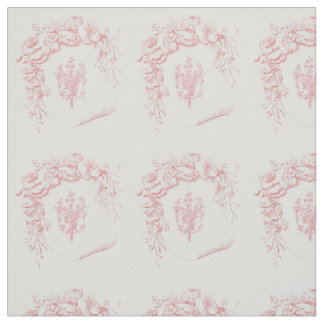 delicate pink floral vintage design fabric