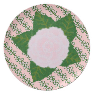 Delicate Pink Flower Dinner Plate