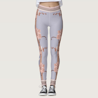 Delicate Pink Orchids Leggings