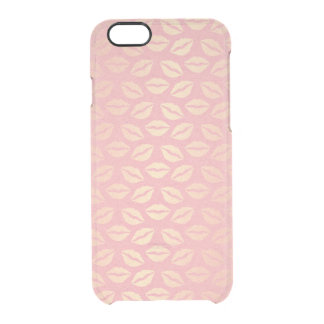 Delicate Pink Powder Golden Kiss iPhone Clearly™ Clear iPhone 6/6S Case
