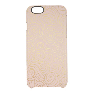 Delicate Pink Powder Golden Waves iPhone Clearly™ Clear iPhone 6/6S Case