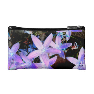 Delicate Pretty Girly Lilac Garden Flowers Cosmetic Bags
