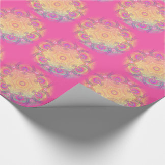 Delicate psychedelic kaleidoscope tiled paper