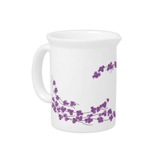 Delicate Purple Blossoms Pitcher