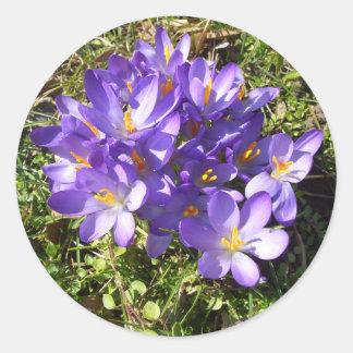 Delicate Purple Flowers CricketDiane Florals Round Sticker