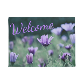 Delicate Purple Flowers Doormat