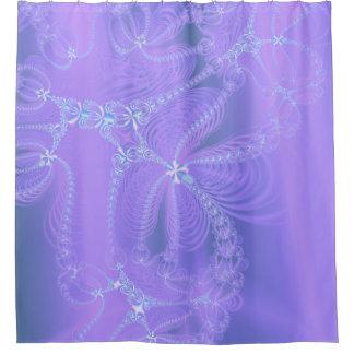 Delicate Purple Fractal Shower Curtain