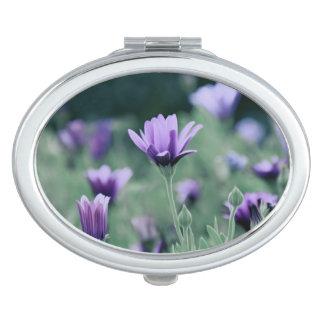 Delicate Purple Lavender Flowers Travel Mirror