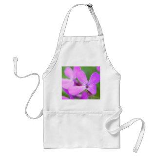Delicate Purple Lunaria Flowers Aprons