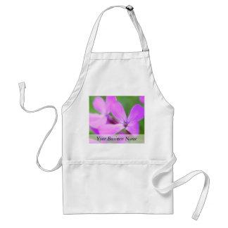 Delicate Purple Lunaria Flowers Apron