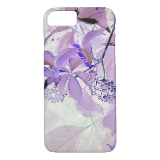 Delicate purple vine leaves and berries iPhone 8/7 case