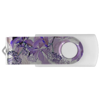 Delicate purple vine USB flash drive