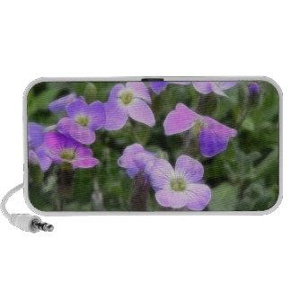 Delicate Rock Cress Flowers Travelling Speaker