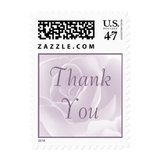 Delicate Rose Floral Thank You Custom Postage