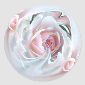 delicate rose in marble 2 round sticker