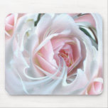 Delicate rose in marble mouse pad