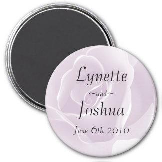 Delicate Rose Keepsake Memento Wedding Magnet