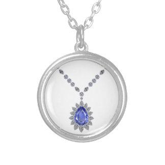 Delicate Sapphire Pendant Necklace