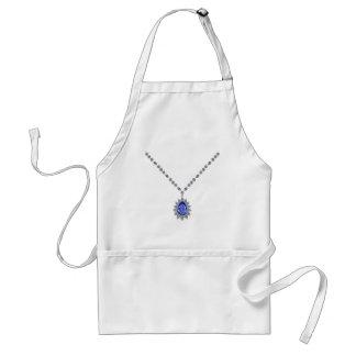 Delicate Sapphire Pendant Necklace Standard Apron
