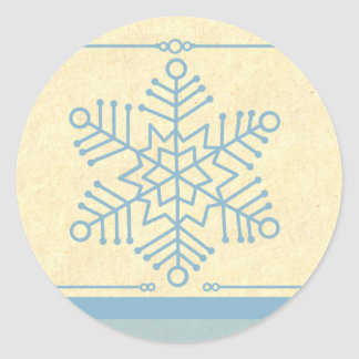 Delicate Snowflake Christmas Stickers