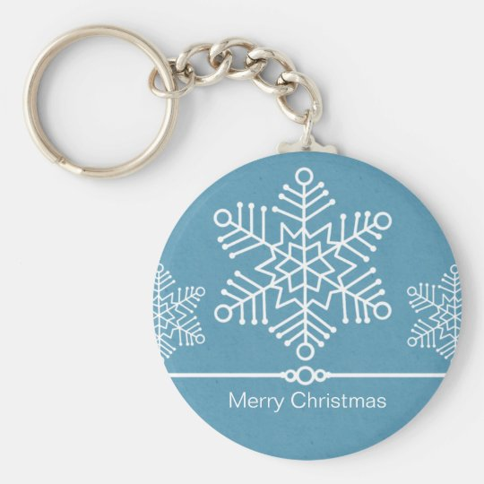 Delicate Snowflakes Christmas Keychain