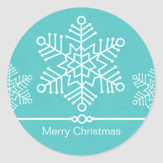 Delicate Snowflakes Christmas Stickers