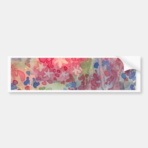 Delicate Spring flowers Bumper Stickers
