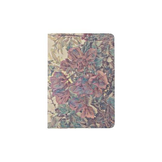Delicate Stylised Bougainvillea Passport Holder