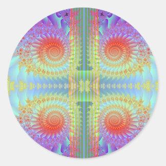 Delicate Swirls Round Sticker