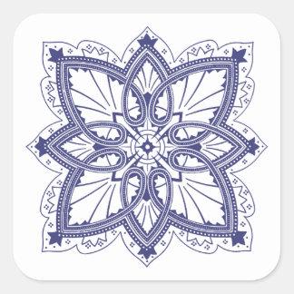 Delicate Tatting Style Victorian Pattern Square Sticker