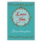 Delicate Valentine Heart Vine For Granddaughter Card