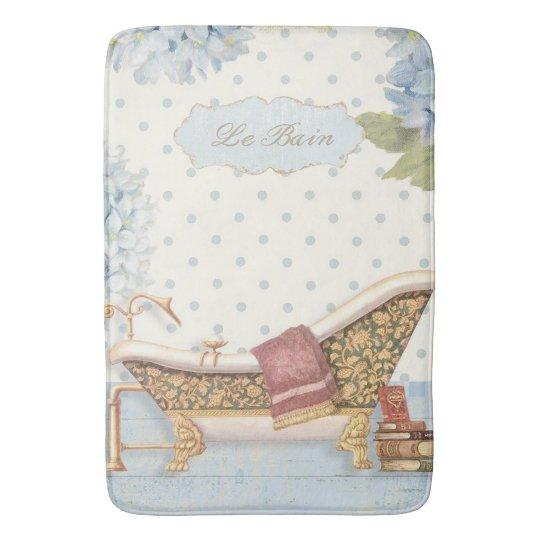 "Delicate Vintage French ""Le Bain"" Bathroom Decor Bath"