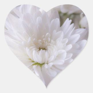 Delicate White Mum Heart Sticker