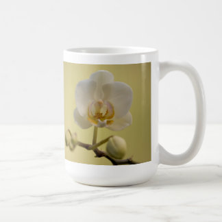Delicate White Orchid Coffee Mug